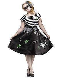 Adult Zombie Sock Hop Plus Size Costume