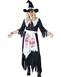 Zombie Salem Witch Plus Size Adult Costume