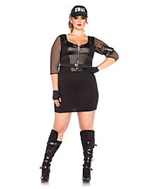 Adult SWAT Officer Plus Size Costume