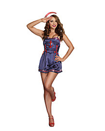 Just Cruisin' Romper Adult Womens Costume