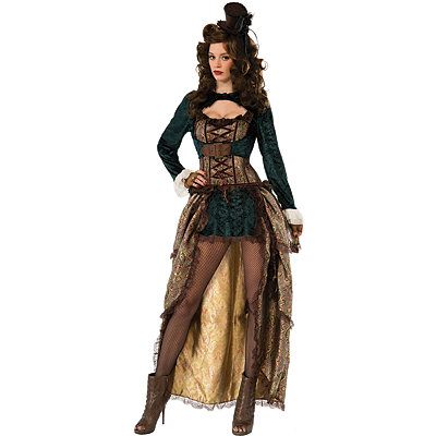 Vintage Inspired Halloween Costumes Adult Madame Steampunk Costume $69.99 AT vintagedancer.com