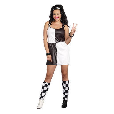 Vintage Inspired Halloween Costumes Adult Yeah Baby 60s Plus Size Costume $44.99 AT vintagedancer.com
