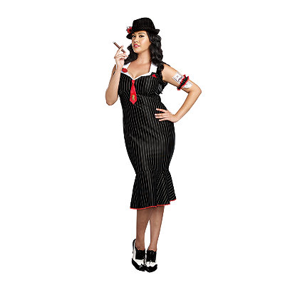Vintage Inspired Halloween Costumes Adult Deadly Dames Plus Size Costume $69.99 AT vintagedancer.com