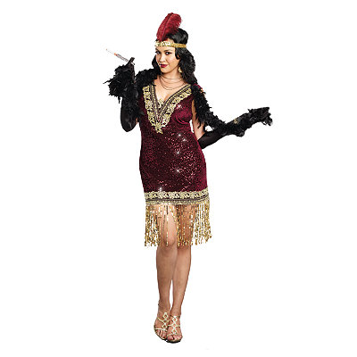 Vintage Inspired Halloween Costumes Adult Sophisticated Lady Plus Size Costume $69.99 AT vintagedancer.com