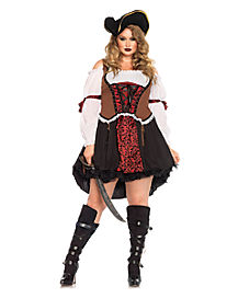 Ruthless Pirate Wench Plus Size Womens Costume