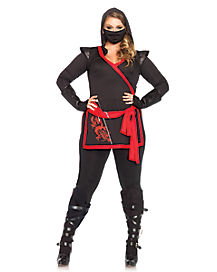 Ninja Assassin Plus Size Adult Women's Costume