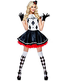 Party Jester Womens Costume