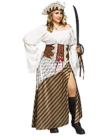 Adult Seven Seas Sweetie Pirate Plus Size Costume