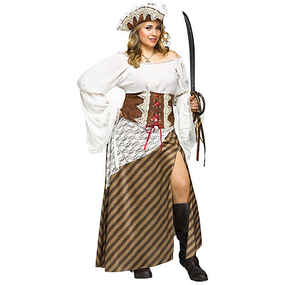 Seven Seas Sweetie Plus Size Adult Pirate Costume
