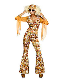Disco Diva Adult Womens Costume