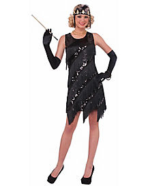 Adult Midnight Dazzle Flapper Costume