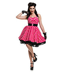 Pin Up Polka Dot Dress Adult Costume
