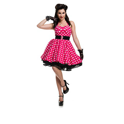 Vintage Inspired Halloween Costumes Adult Polka Dot Dress Pin Up Costume $84.99 AT vintagedancer.com