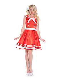 50s Vintage Girl Adult Costume