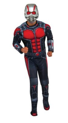 a man wearing an ant man costume