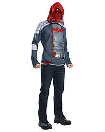 Adult Muscle Red Hood Costume - Batman: Arkham