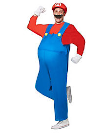 Plus Size Mario Adult Mens Costume