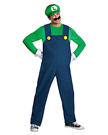 Plus Size Luigi Adult Mens Costume
