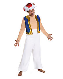 Plus Size Mario Bros Toad Mens Costume