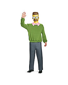 Simpsons Deluxe Ned Flanders Adult Mens Costume
