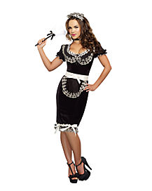 Keep It Clean French Maid Adult Womens Costume