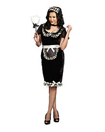 Adult Keep It Clean Maid Plus Size Costume
