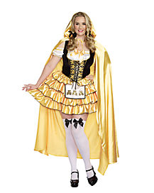 Adult Caped Goldilocks Plus Size Costume