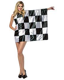 Adult Checkered Flag Dress Costume