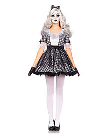 Pretty Porcelain Doll Womens Costume