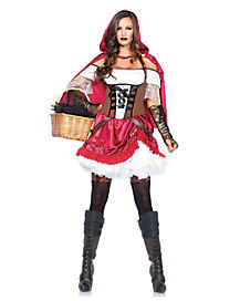 Adult Rebel Red Riding Hood Costume