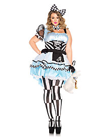 Adult Psychedelic Alice Plus Size Costume