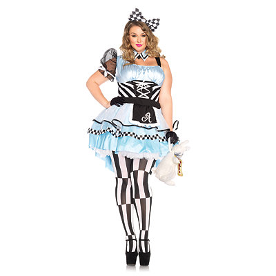 Psychedelic Alice Plus Size Womens Costume