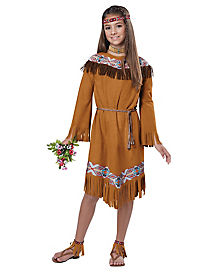 Kids Fringe Dress with Tie Native American Costume