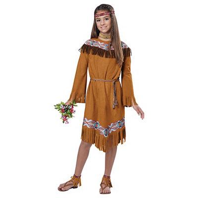 Kids Fringe Dress with Tie Native American Costume