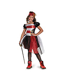 Black and Red Pirate Girls Costume