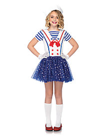 Stars and Stripes Sailor Girls Costume