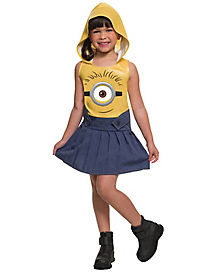 Kids Hooded Minion Costume - Minions Movie