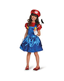 Mario Bros Mario Girls Child Costume