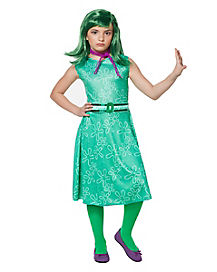 Inside Out Disgust Girls Costume