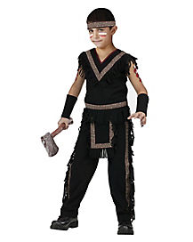 Kids Midnight Warrior Native American Costume