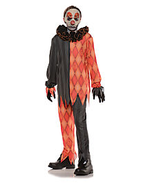 Kids Masked Evil Clown Costume