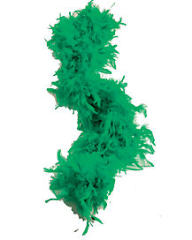 Green Feather Boa