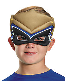 Kids Gold Puff Power Rangers Mask - Power Rangers Dino Charge