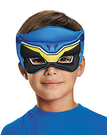 Kids Blue Puff Power Rangers Mask - Power Rangers Dino Charge