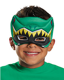 Child Power Rangers Dino Charge Green Puff Mask