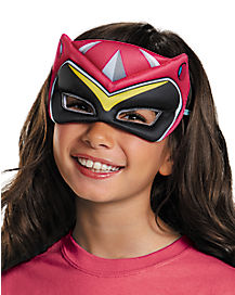 Kids Pink Puff Power Rangers Mask - Power Rangers Dino Charge