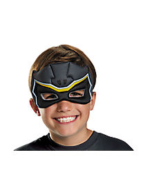 Kids Black Puff Power Rangers Mask - Power Rangers Dino Charge