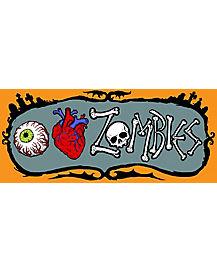 I Heart Zombies Car Magnet