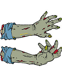 Zombie Hands Car Magnet