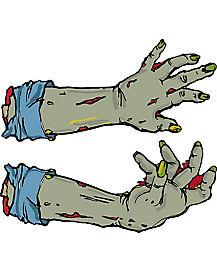 Zombie Hands Car Magnet